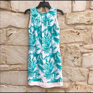 H&M Blush Pink Palm Leaf Shift Dress